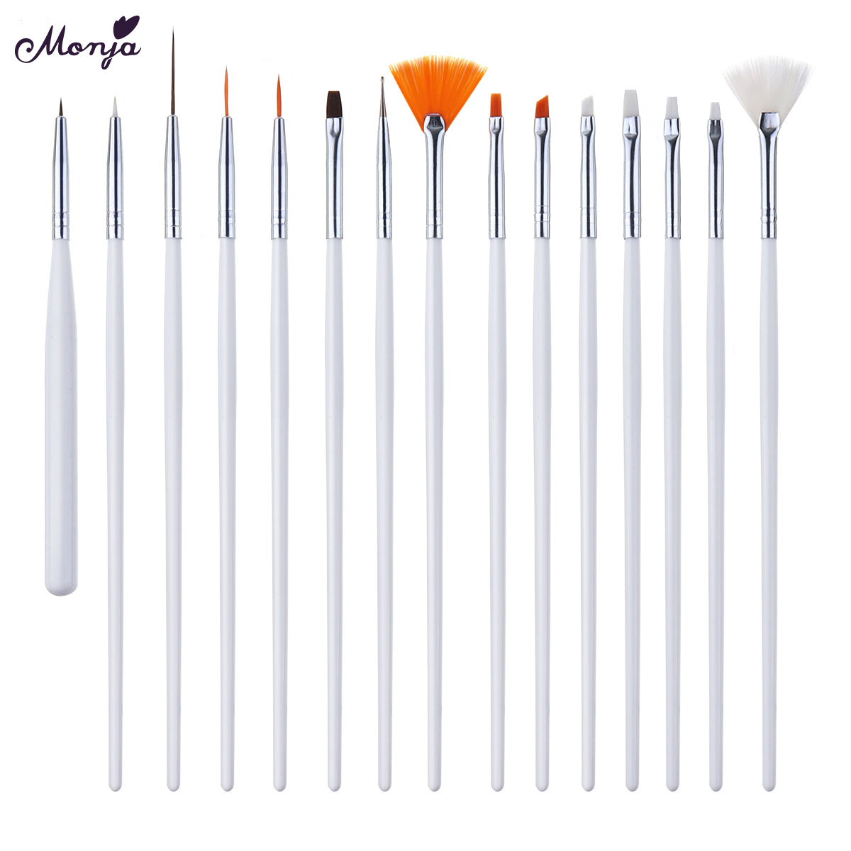 Monja Nail Art Brush With French Design Lines Made With Metal And Fiber Hair Material For Nail Art Salon Tools 3