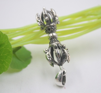 Sterling S925 Silver Pendant Suitable For Men Buddhism Vajra Gift Luck Pendant 60*17mm