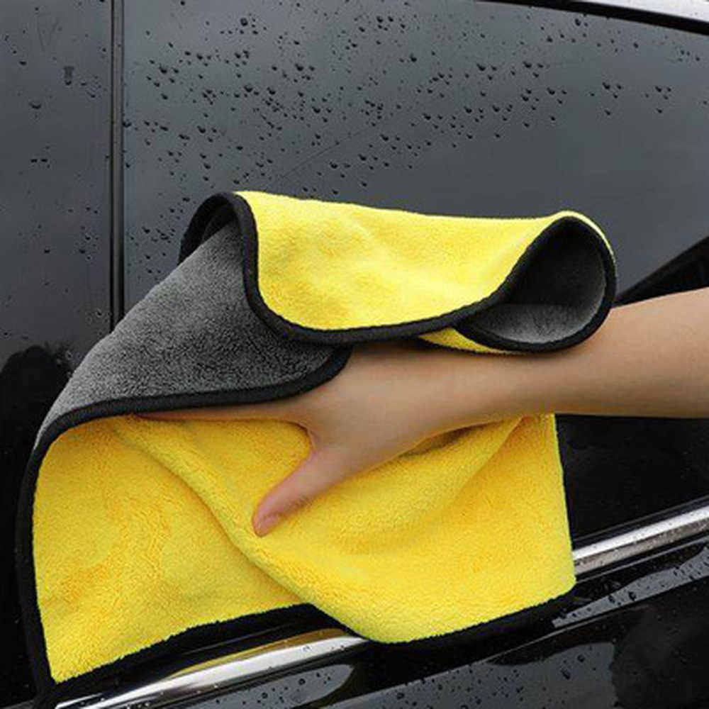 Car Cleaning Towel Coral Velvet Cloth Double Sided High Density New Wiping Absorbent For Mitsubishi Lancer EVO Outlander Pajero