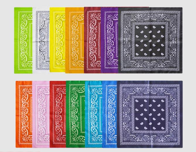 12PCS, 100% Polyester Paisley Whirlpool Printed Handkerchief Scarf, Hip-hop Hip-hop Square Printed Headscarf For Men And Women