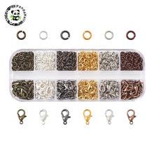 1 коробка застежки карабины набор железных колец разных цветов