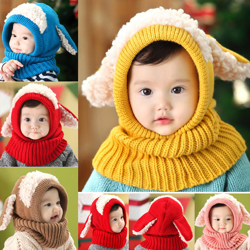 Children Baby Sweater Hat Warm Knitting Cap Lovely Comfortable For Winter Outdoor FDX99
