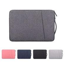 Capa de laptop, bolsa de mão à prova d'água para notebook 13.3 14 15 15.6 polegadas para macbook air pro hp ace xiaomi manga asus lenovo