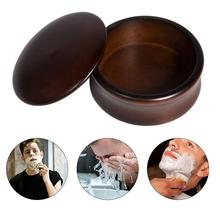 Wooden Shaving Soap Bowl Cleaning Tool Set Foam for Men