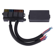 12 Way Blade Fuse Holder Box with Spade Terminals and Fuse 4PCS 5Pin 12V 80A Relays for Car Truck Trailer and Boat