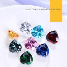 Astrobox wysokiej jakości serce cyrkon kamień szyć na Rhinrstone Pointback kryształowe luźne koraliki DIY dodatki odzieżowe tworzenia biżuterii