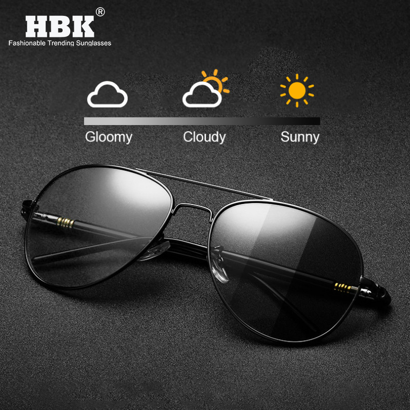 Pilot Photochromic Sunglasses Men Driving TAC Color Changing Pilot Sun Glasses Alloy Spring Temple Shades For Women Driver