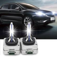 Lâmpada xenon hid para farol automotivo, 1 par, d3s, 12v, 35w, d3s, lâmpada xenon, d3s, d3c, 4300k e 5000k 6000k 8000k 10000k para audi bmw benz
