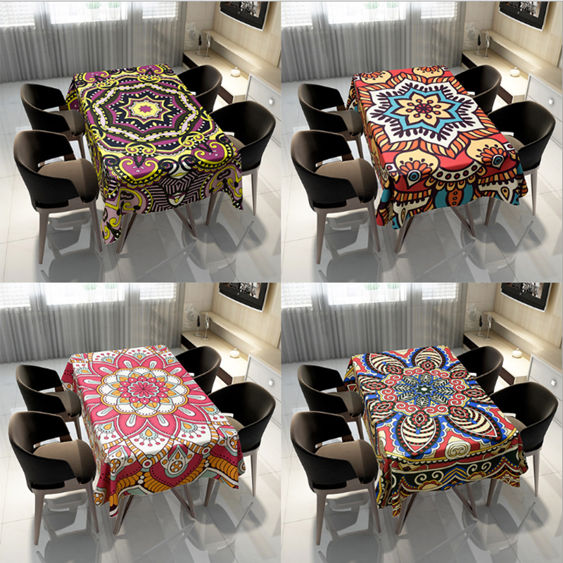 2020 New Arrival Fashion Design Printed Decoration 140*140cm Size Customized Complex Geometric Pattern Home Textile Table Cloth Tablecloths  - AliExpress