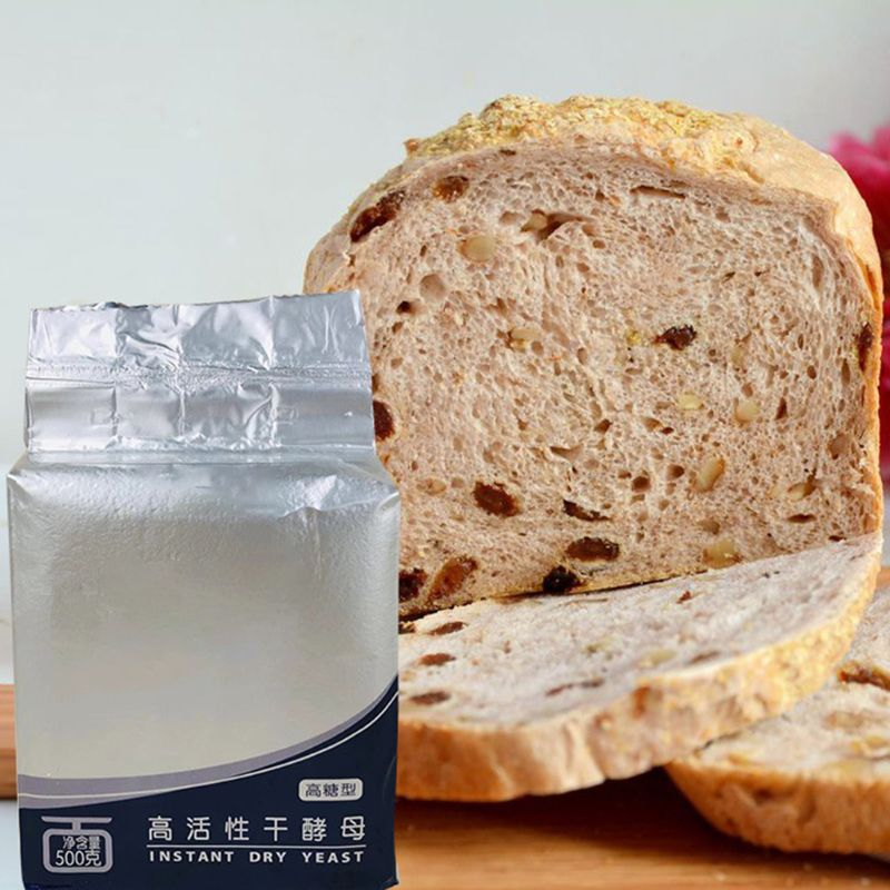 500g Bread Yeast Active Dry Yeast High Glucose Tolerance Kitchen Baking Supplies