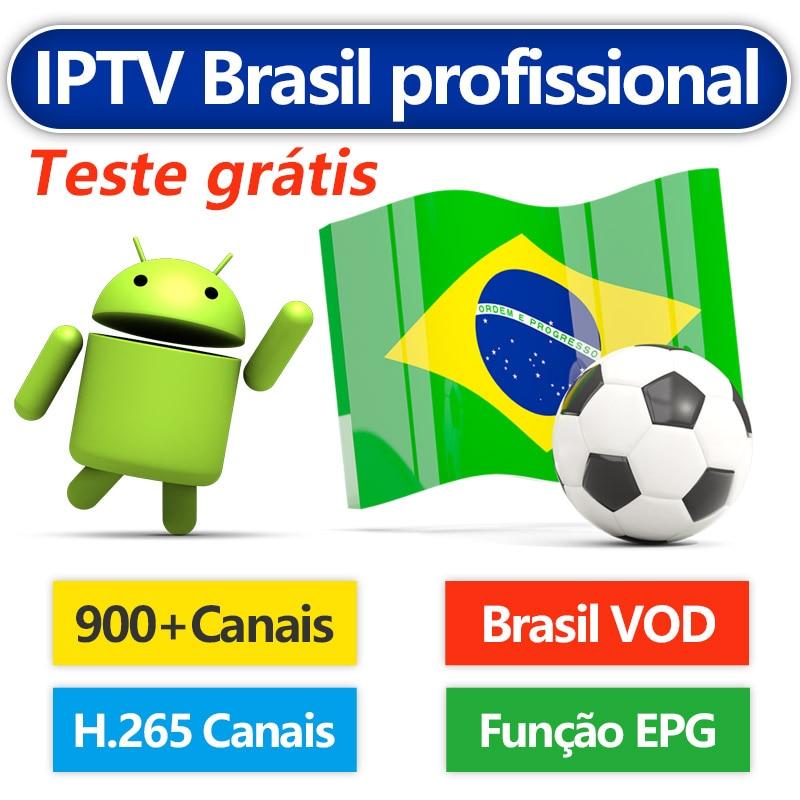 IPTV Brazil Android IPTV Subscription Portuguese 900+ Canais Brazil VOD 4K VIP H.265 Brazil Subscription IPTV Brasil IP TV