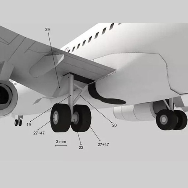 DIY Airplane Paper Model Papercraft Toy 1:100 Boeing Paper Model Aircraft Aircraft Handmade Origami Model 737 Toy Paper 3D P2J7 6