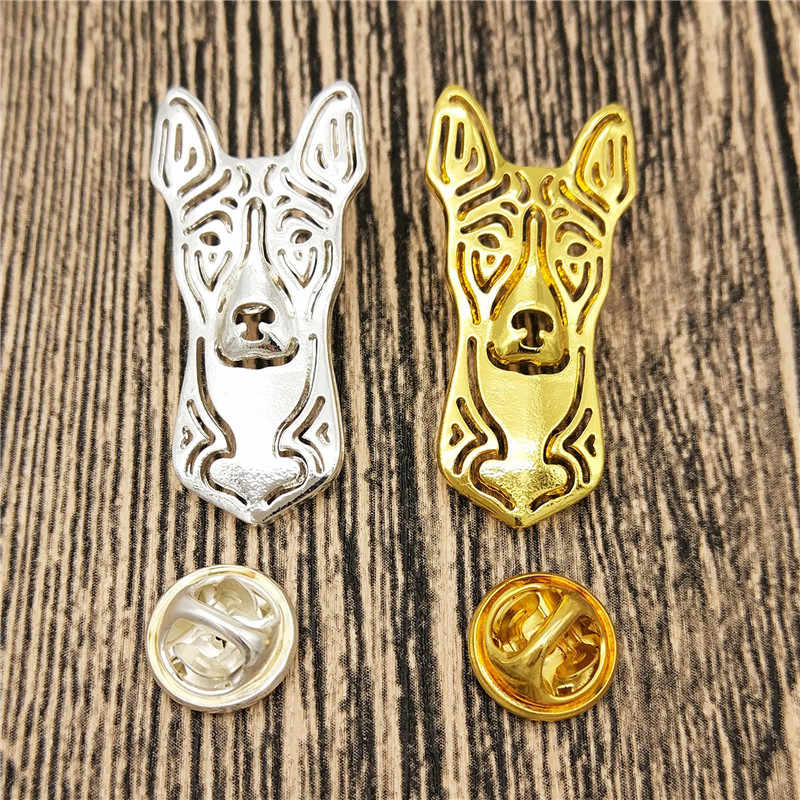 Dropship Fashion Cute Pet Basenji Dog Broches and Pins for Women Collar Pin Jewelery Clothing Accessories Men's Gift Gold Color