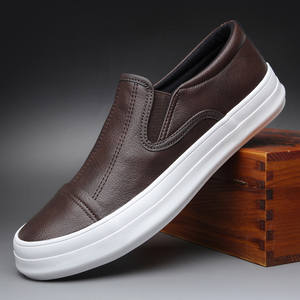 Men's Shoes Spring Korean-Version Autumn Fashion Without Lace-Up Model Linking Low-Top