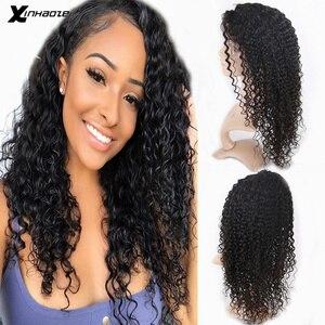 Pelucas frontales de pelo humano de encaje peruano pelucas frontales de encaje húmedas y onduladas de cabello humano Pre desplumadas con pelo de bebé mujeres negras