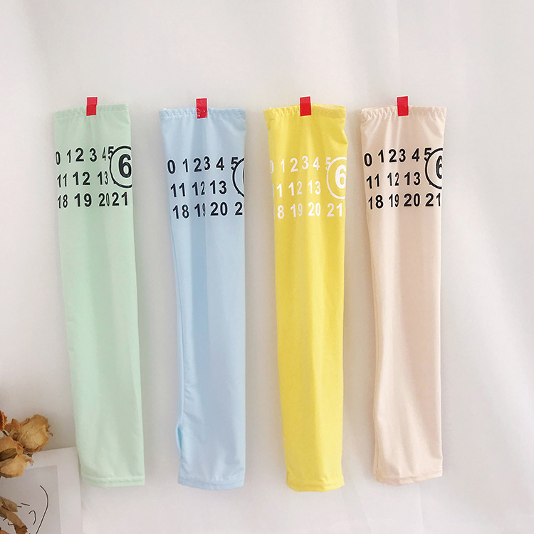 2 Pieces = 1 Pair New Ice Cream Color Ice Sleeve Women Ins Wild Summer Sunscreen Female Hand Sleeve Guard Arm Cuff Arm Cuff