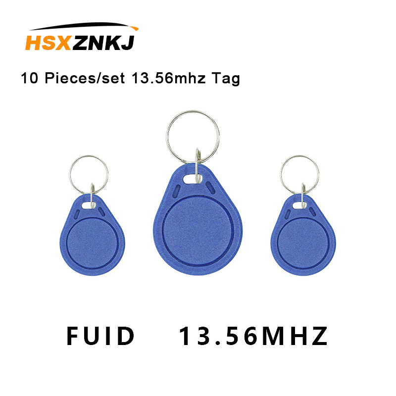 10 Pieces/set 13.56mhz Fuid Card Rfid Close Keychain Token Key Copy Clone Tag One-time Uid Changeable Block 0 Writable