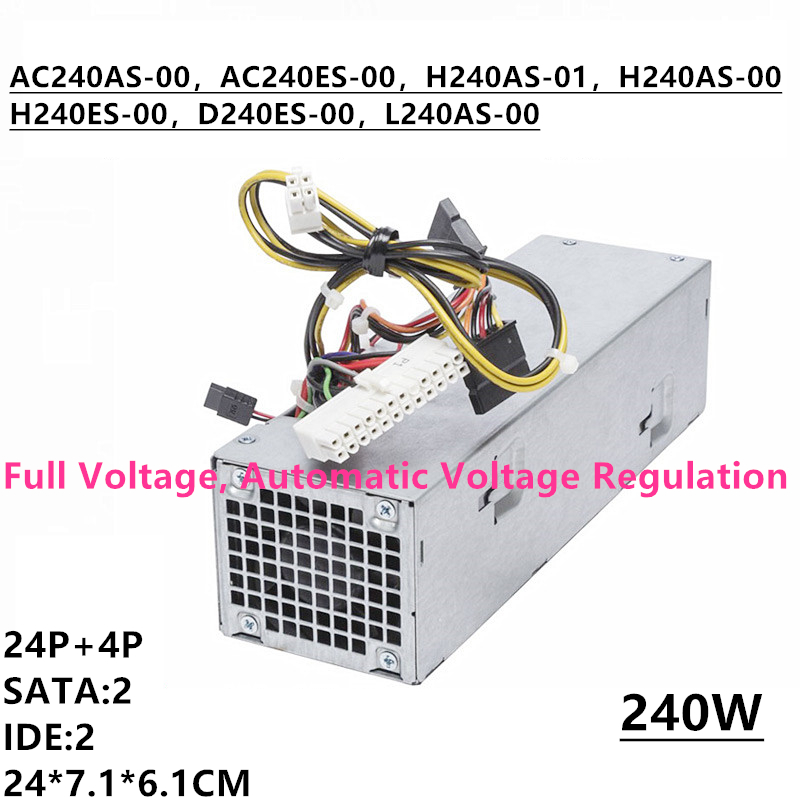 New PSU For Dell OptiPlex 390 790 990 3010 <font><b>7010</b></font> 9010 SFF Power Supply 3WN11 L240AS-00 TXYM H240AS-00 01 AC240AS-00 01 H240ES-00 image