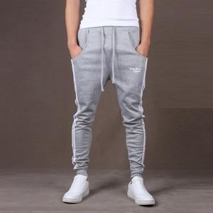 Sport Striped Baggy Pockets Trousers Pencil Pants Cargo Pants Men Streetwear Style Men Sweatpants Casual Skinny Elastic Joggings
