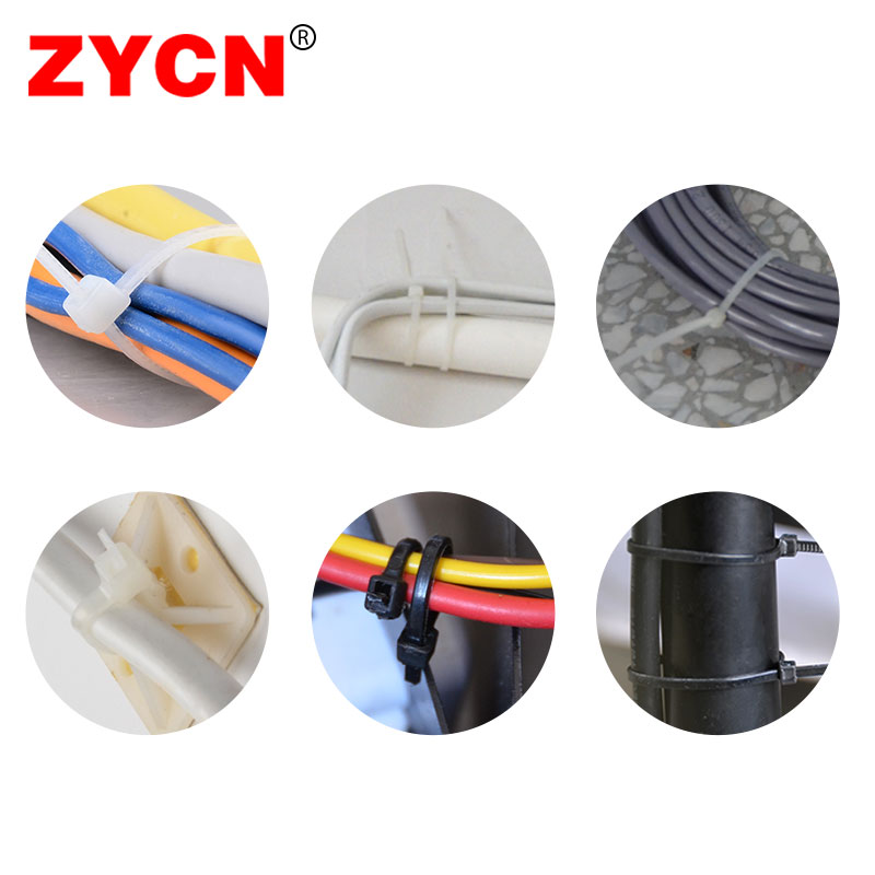 Nylon Cable Tie Width:3.5MM Self-Locking Plastic Warp Black Wire Zip 500PCS Strapping Industrial  Fasteners ZYCN 250pcs