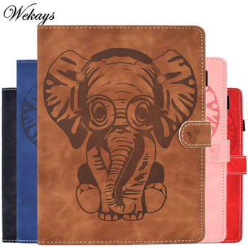 Cover For Amazon HD8 HD 8 Cartoon Elephant Leather Flip Case For Amazon Kindle Fire HD8 HD 8 2016 2017 2018 2019 8.0 Cover Cases россия hd8 1005 pf стопка
