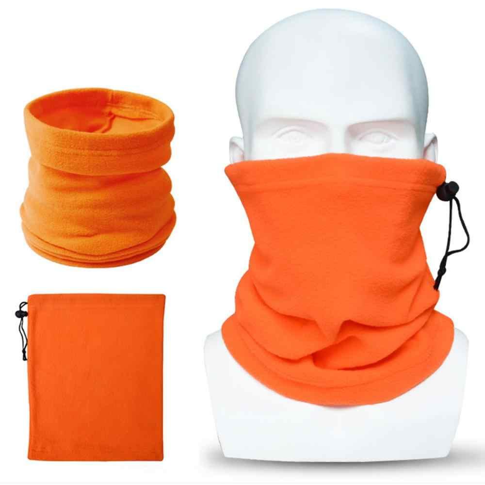 Mężczyźni Unisex zima zagęścić Polar kominiarka polarowa szyi cieplej solidna maska motocyklowa wiatroszczelna kask Liner regulowana do rozmiaru głowy H