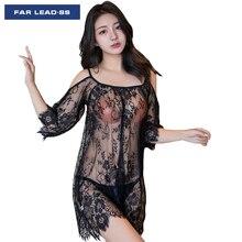 High End Brand Design Night Dress Sexy Lace Women Pyjamas Lingerie Transparents Silk Nightgown Sleepwear Nightwear Pijama Nighty
