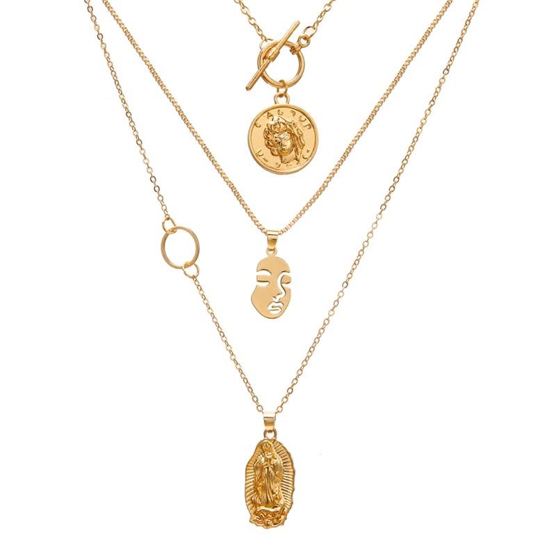 VKME модное жемчужное ожерелье с двойным слоем Love аксессуары Женское Ожерелье Bijoux подарки - Окраска металла: ZL0001123-1
