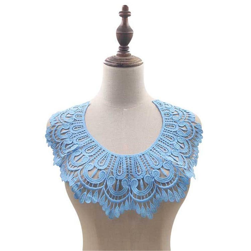 Dress Applique Milk Silk Blouse Costume Decor Accessories Fake Collar DIY Neckline Collar Sewing Trims White Black
