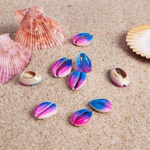Image 5 - Cuentas de concha de cauri sin agujero y sin taladrar, accesorios de joyería DIY, fabricación de collares, pulseras, 200 Uds.