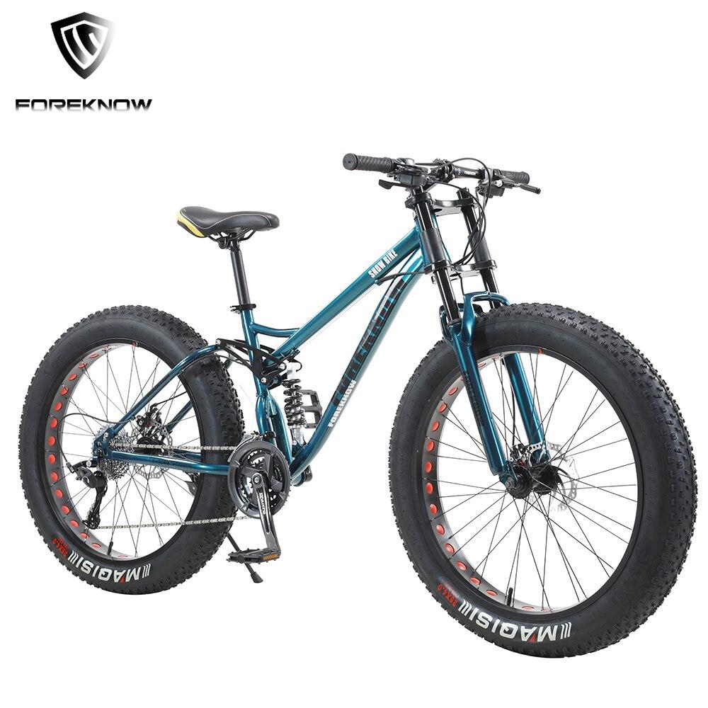 Foreshow-Bicicleta de Montaña ancha para adultos, vehículo de carreras de 26 pulgadas, 30 Velocidad Variable de velocidad, para playa y carretera