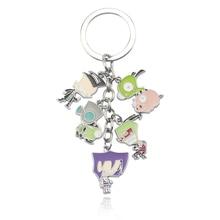 Fashion keyring Alien Invader Keychain anime cosplay Zim metal figures keychain for Women gift