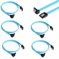 Cables de ángulo recto de 90 grados para disco duro, Cable SATA 3,0 III, 6 Gb/s, 46cm, 5 uds.