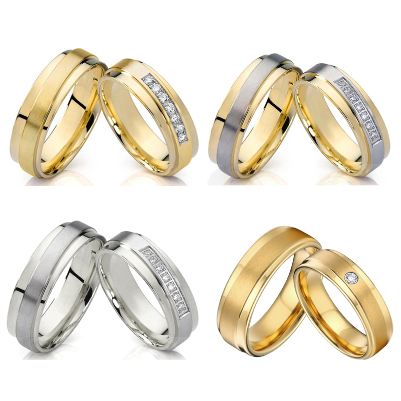 Ladies Love Alliance Promise Wedding Rings Set For Men And Women Gold Color Stainless Steel His And Hers Marriage Couple Ring Ring Pair Engagement Ringcouple Rings Aliexpress