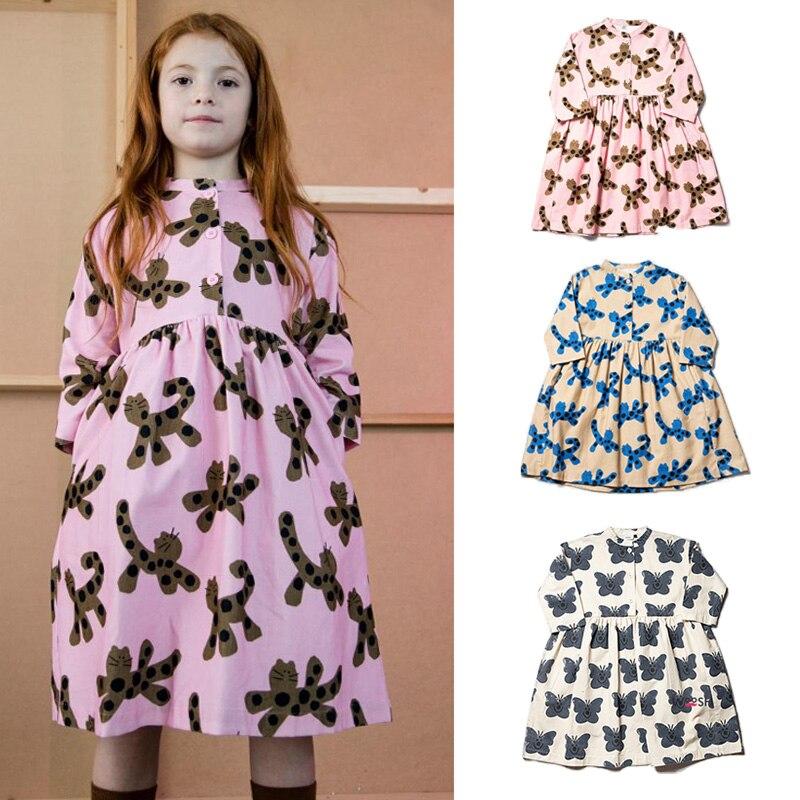 Wynken 2020 абсолютно новое весенне-осеннее детское платье для девочек модные платья с мультяшным принтом детское Хлопковое платье принцессы де...