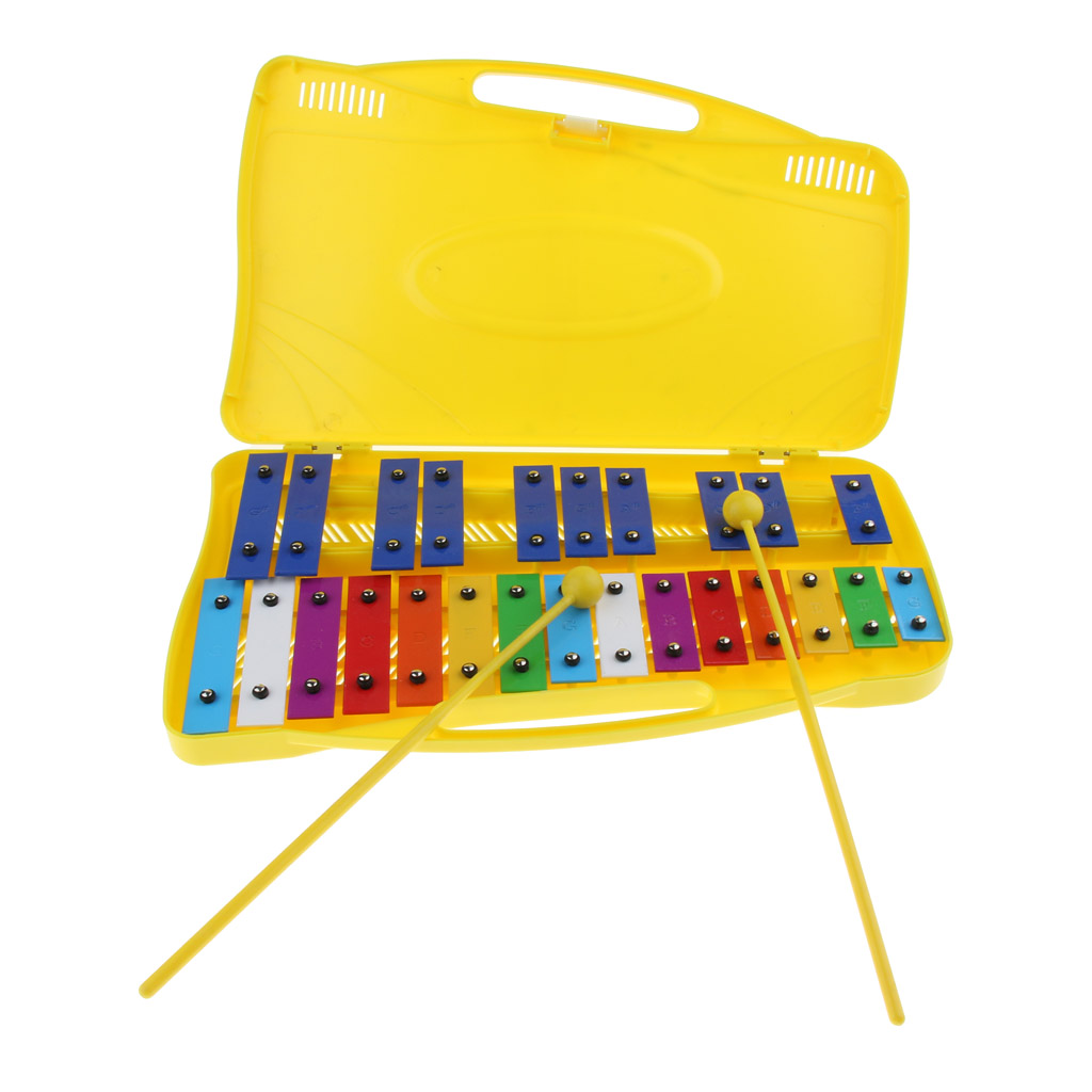 Toddlers Kids 25 Note Xylophone Glockenspiel In Case Early Musical Developmental Toy