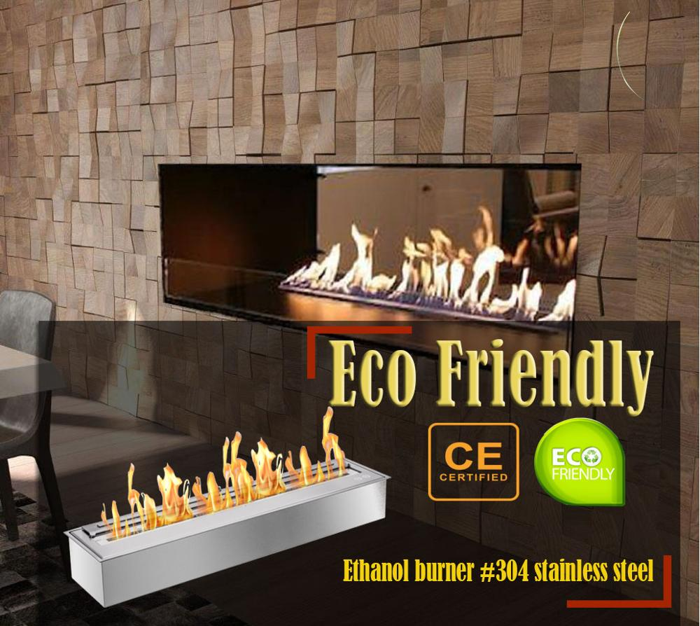 Inno Living Fire  48 Inch Stainless Steel Indoor Fireplace Ethanol Heaters