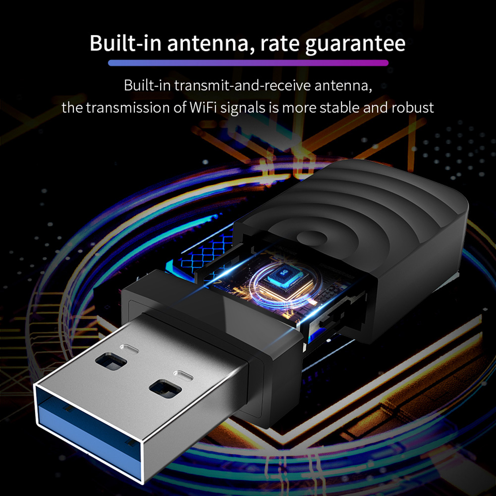 Dual Frequency 1300M Gigabit USB Mini Portable Unlimited Receiver CF-812AC USB WiFi Adapter VDX99