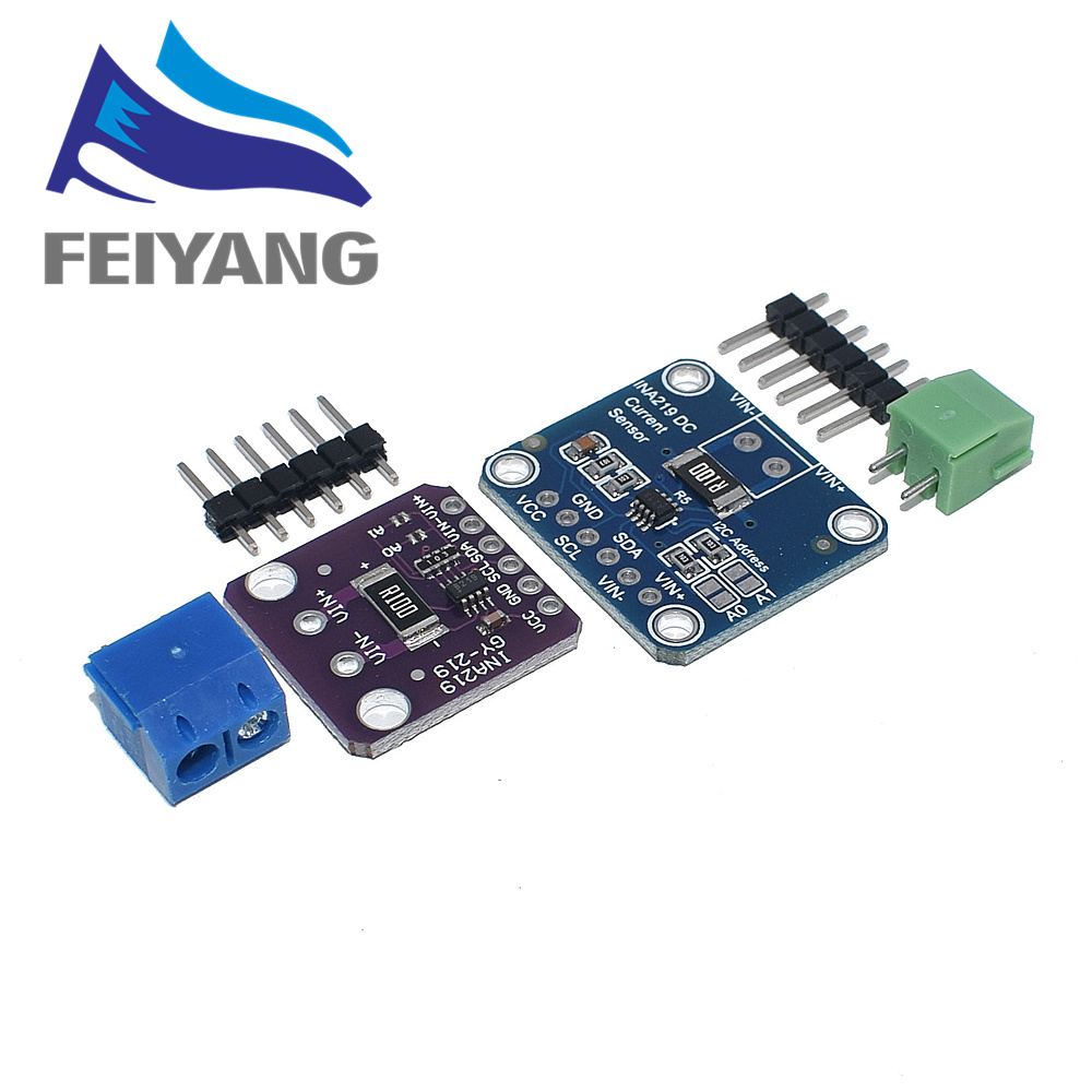 10PCS INA219 GY 219 Current Power Supply Sensor Breakout Board Module Sensor Module I2C interface High Side DC Current DIY kitIntegrated Circuits   -