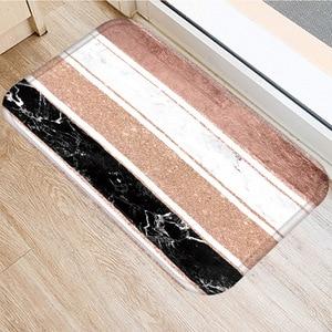Image 3 - Brown Geometric Non slip Mat Home Bedroom Decorative Carpet Kitchen Living Room Floor Mat Bathroom Non slip Door Mat 40x60cm  ..