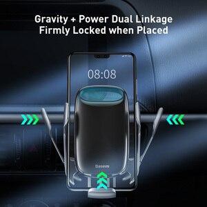 Image 4 - Беспроводное Автомобильное зарядное устройство Baseus 15 Вт Qi для iPhone 11 XS, электрическое Индукционное автомобильное крепление, быстрая Беспроводная зарядка с автомобильным держателем для телефона