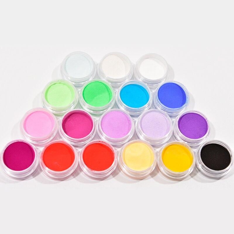 18 цветов 18 коробок цветные акриловые порошки для ногтей 3D Акриловый Дизайн ногтей акриловый порошок для дизайна ногтей порошок для наращив...