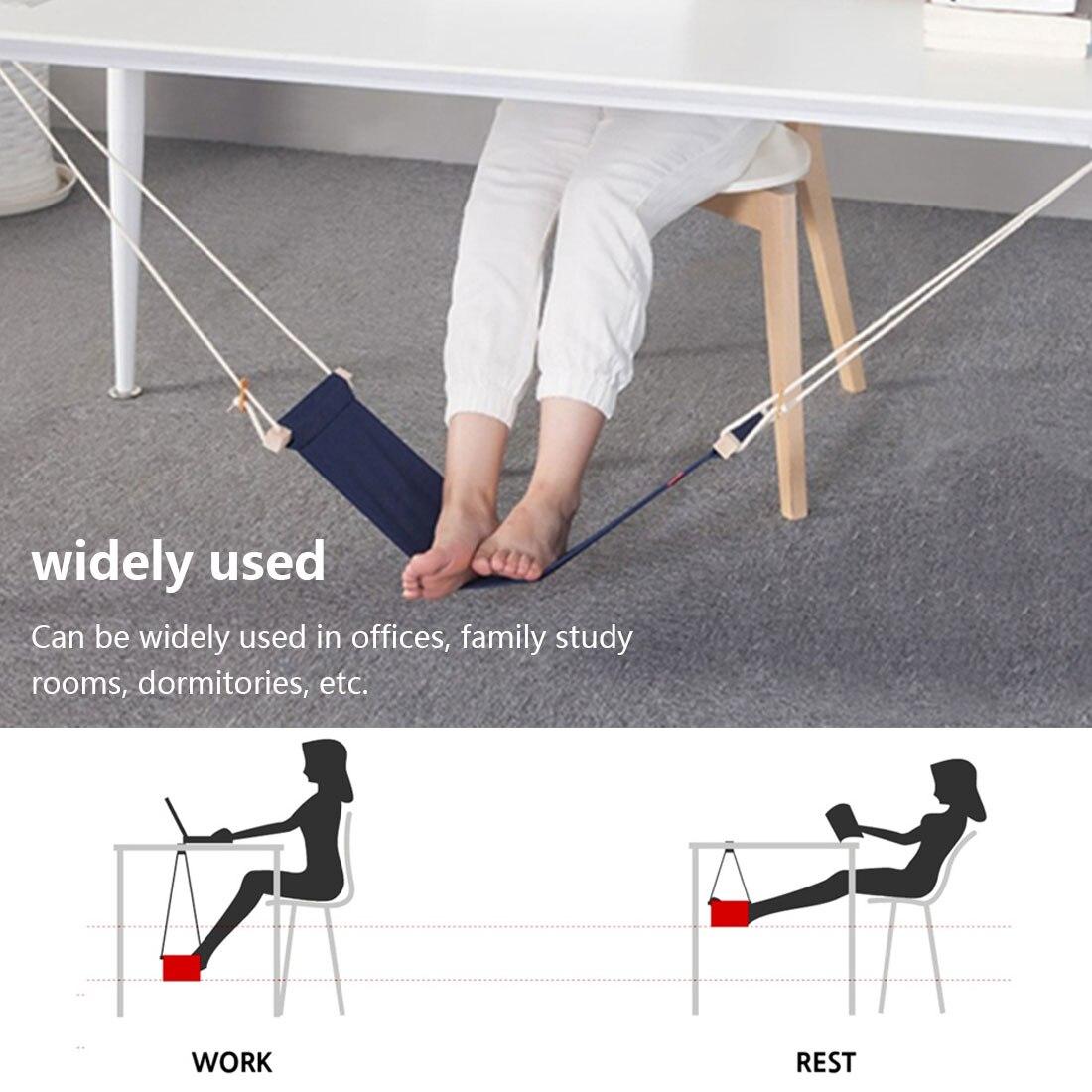 Portable Desk Feet Hammock Foot Chair Care Under Desk Hammock Outdoor Rest Cot Office Foot Hammock Mini Feet Office Rest