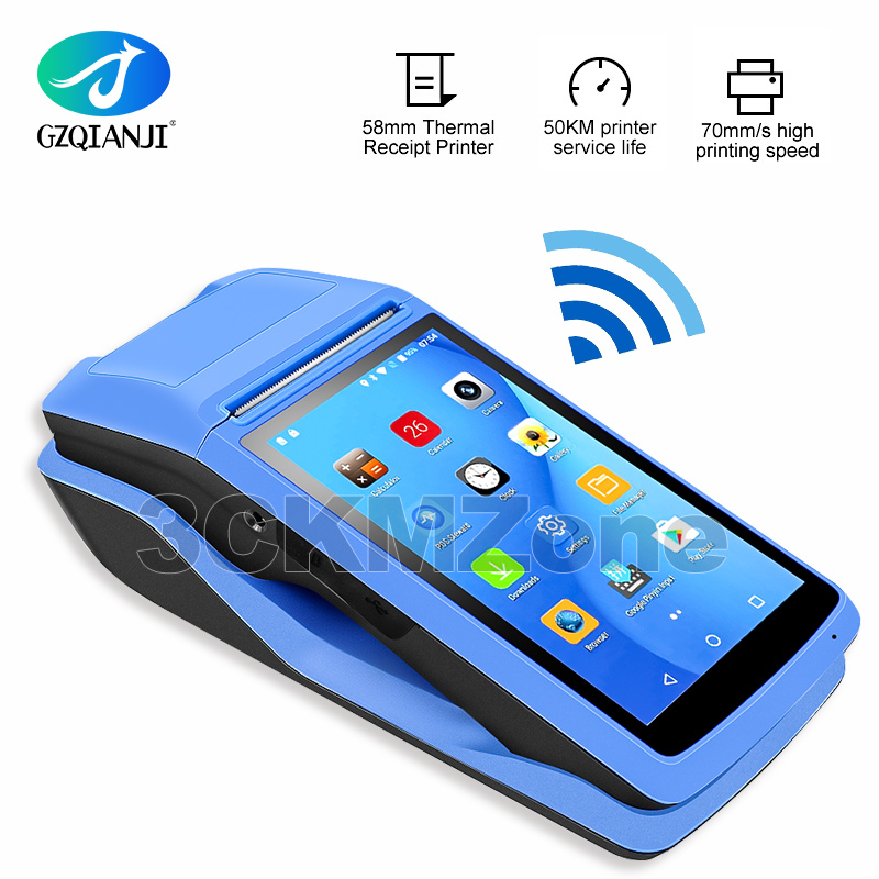 Protable Android 6.0 Rugged PDA Handheld POS Printer 58mm Terminal Sunmi V2 PDA 4G WiFi Bluetooth With Camera Speaker Receipt Pr