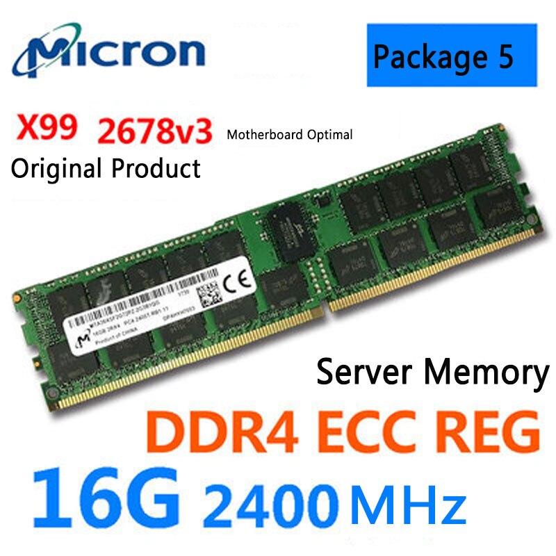 Samsung 16G Память DDR4 PC4-2133P 2400T ECC REG 32 Гб Серверная карта памяти X99