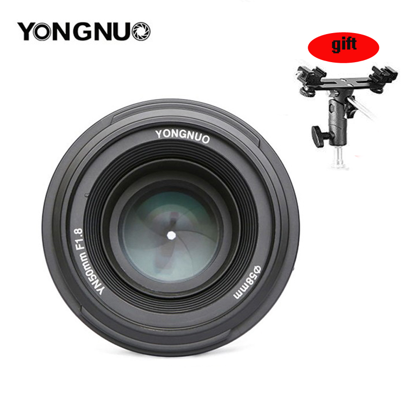 永諾 YN 50 ミリメートル YN50mm F1.8 レンズ大口径 AF/MF オートフォーカス固定レンズキヤノン Eos または一眼レフカメラ  グループ上の 家電製品 からの カメラレンズ の中 1