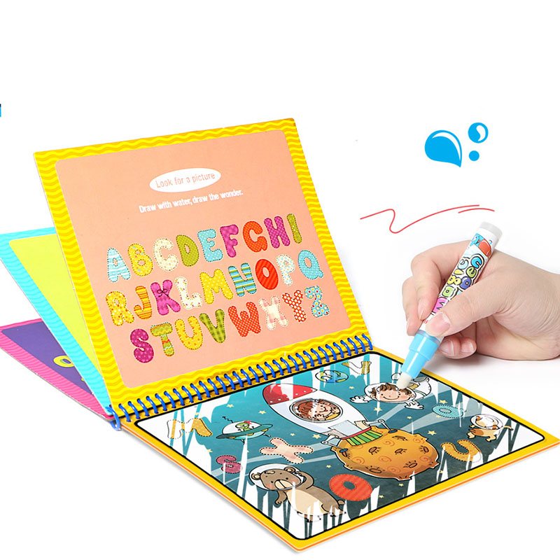 Magic Water Drawing Book Zoo Animal Dinosaur Coloring Book Graffiti Magic Pen Painting Drawing Board For Kids Educational Toys