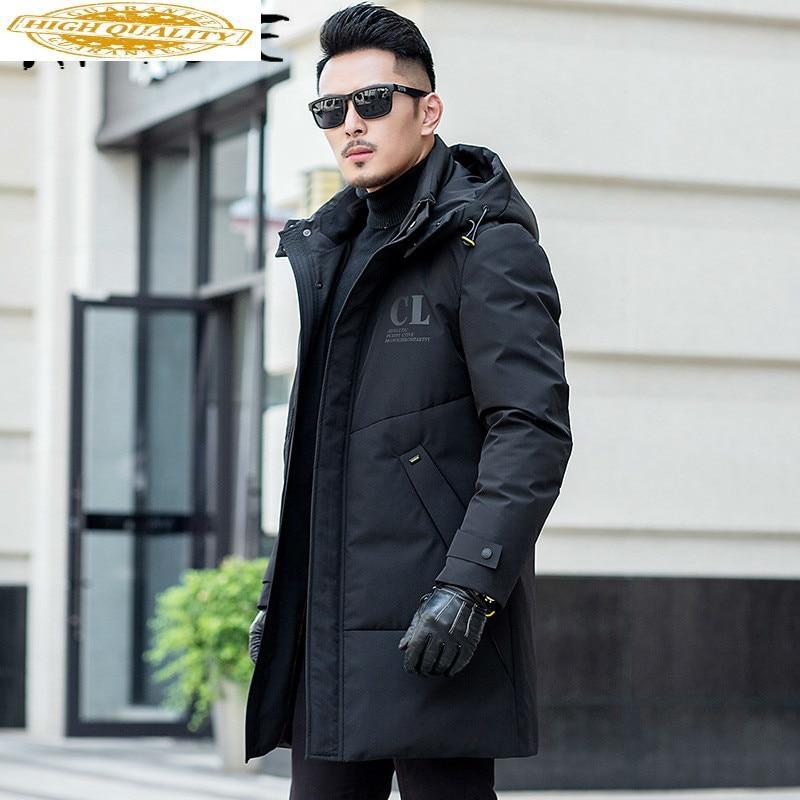 Duck Down Coat Winter Coat Men Hooded Casual Puffer Jacket Men Korean Warm Parka Doudoune Homme 5001 YY1309
