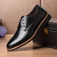 New Black Brown Fashion Men Casual Pointed Top Formal Business Male Wedding Dres