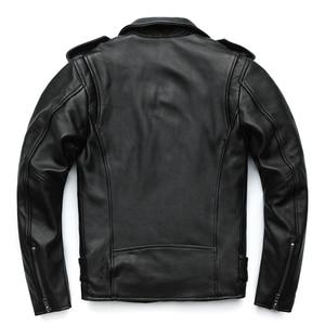 Image 5 - Maplesteed clássico motocicleta jaquetas jaqueta de couro masculino 100% natural pele de bezerro grosso moto jaqueta manga de inverno 61 67cm m192